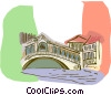 Italy, Rialto Bridge Vector Clipart illustration