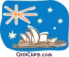 Australia, Sydney Opera House Vector Clipart picture