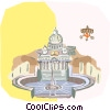 Vector Clip Art image  of a Vatican City