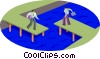 Vector Clipart illustration  of a two opposing points of view
