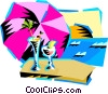 Vector Clipart image  of a cool drinks at the beach