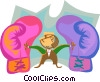 business metaphors, boxing gloves Vector Clipart picture