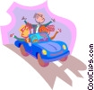 business metaphors, driving Vector Clipart picture