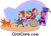 education, going off to school Vector Clip Art picture
