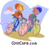 business metaphors, bicycle racing Vector Clip Art picture