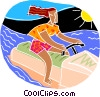 Chalkboard style, water sports Vector Clip Art picture
