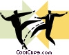 Vector Clipart picture  of a Businessmen competing