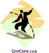 business metaphors, technology surfing Vector Clip Art image