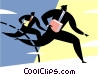 Businessmen in a race Vector Clip Art graphic