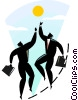 business metaphors, basketball Vector Clip Art picture