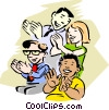 Audience Clapping Vector Clipart illustration
