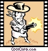 Western Movie Vector Clipart picture