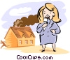 Vector Clipart graphic  of a Reporter on the scene