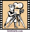 Vector Clip Art graphic  of a Film Maker