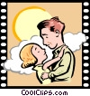 Vector Clip Art image  of a Love Story Romance