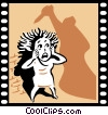 Vector Clipart picture  of a Horror Movie