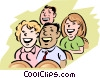 Vector Clip Art graphic  of an Audience Laughter