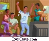 Vector Clipart graphic  of a Couples watching game