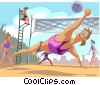 Woman's volleyball Vector Clip Art picture