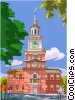 Philadelphia's Independence Hall Vector Clipart image