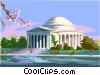 Vector Clipart picture  of a Jefferson Memorial