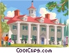Mount Vernon, George Washington's home Vector Clipart graphic