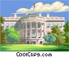 The White house, Washington D.C. Vector Clip Art image