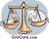 Republican Democrat House Balancing Vector Clipart graphic