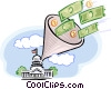 Vector Clipart illustration  of a Govt money