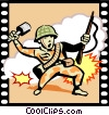 Vector Clipart picture  of a War Movie