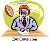 Vector Clip Art picture  of a Sportscaster