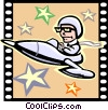 Vector Clipart illustration  of a Science Fiction Movie
