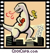Vector Clip Art picture  of a Monster Movie