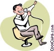Vector Clipart graphic  of a Karaoke Singer