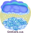 Clouds with rain Vector Clipart image