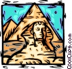 Vector Clip Art image  of a Egypt Sphinx/pyramids