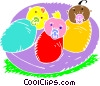 Bundled babies Vector Clip Art graphic