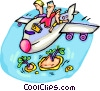 Travel to tropical destination Vector Clipart illustration