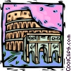 Vector Clipart image  of a Rome coliseum