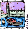 Vector Clipart graphic  of a Venice