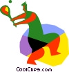 Vector Clip Art graphic  of a Tennis