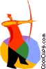 Vector Clipart picture  of an Archery