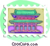Pagoda Vector Clipart illustration