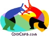 Vector Clipart graphic  of a Wrestling