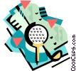 Golf Vector Clip Art image