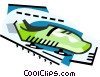 Vector Clipart graphic  of a Bob sled