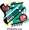 Vector Clipart illustration  of a Ping pong