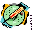 Vector Clipart graphic  of a Cricket