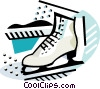 Vector Clipart illustration  of a Skating