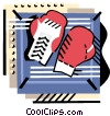 Vector Clip Art graphic  of a Boxing gloves